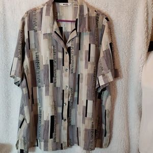 Blouse Size 22W Brown and black